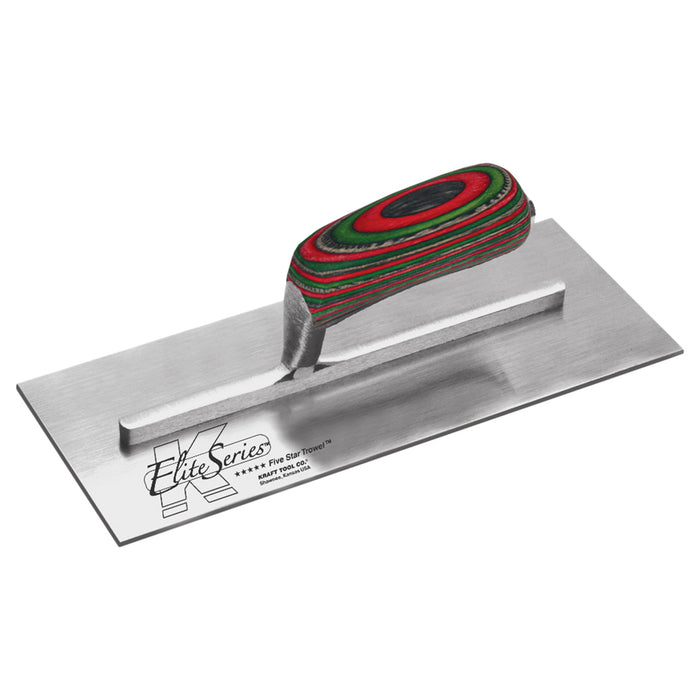"13""x 5"" Elite Series Five Star Carbon Steel Plaster Trowel with Laminated Wood Handle"