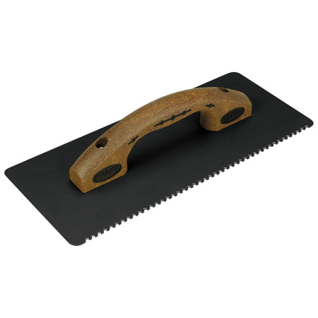 "14""x 6"" Elite Series Five Star Heavy-Duty Notched EIFS Rasp with Cork Handle"