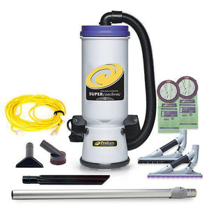 Proteam 107604 Super CoachVac 10 qt. Backpack Vacuum w- ProBlade Carpet & Hard Surface Floor Tool Kit