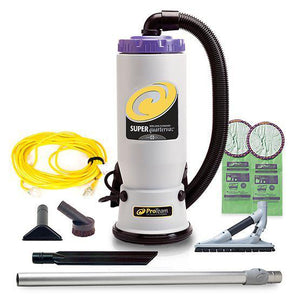 Proteam 107606 Super QuarterVac 6 qt. Backpack Vacuum w- ProBlade Hard Surface Floor Tool Kit
