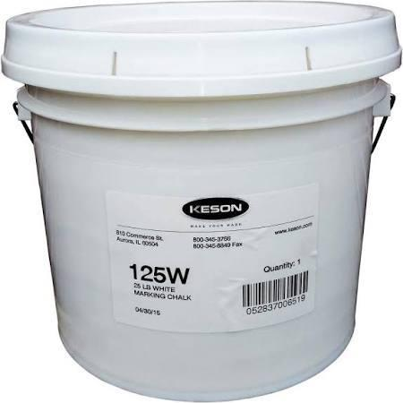 Keson 125W 25 Lb.Pail Of White  Prochalk