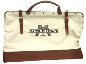 "Marshalltown 14169 20"" Canvas Tool Bag-Leather Bottom"