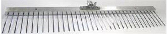 "Marshalltown 14869 Concrete 60"" Flat Wire Texture Broom; 1"" Spacing"