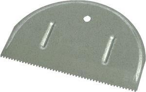 "Marshalltown 15810 Metal Adhesive Spreader 6"" Blade - 1-16"" x 1-16"" Square Notch"