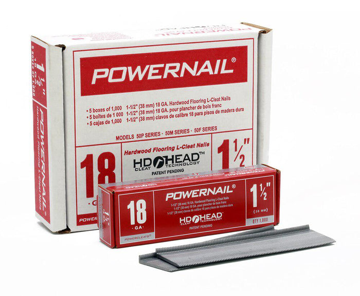 Powernail L-15018PP 1-1-2 Inch 18 GA. flooring nail 1,000 nails