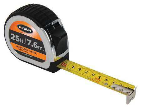 Keson PG10M25 25' x 1 inch Measuring Tape FT FT., 1-10, 1-100,and metric
