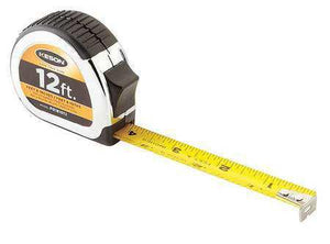 Keson PG181012 12' x 5-8 Measuring Tape FT., 1-10, 1-100 & FT., 1-8, 1-16