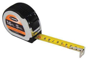 Keson PG18M16 16' x 1 inch Measuring Tape FT, 1-8, 1-16 & CM, MM