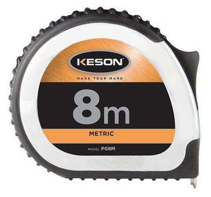 Keson PG8M 8M x 1 inch Measuring Tape M, CM, MM