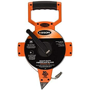 Keson OTR30M 30M Metric Fiberglass Tape Measure With Hook