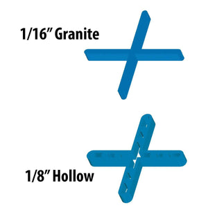 Barwalt 16100 Hollow Leave-In Tile Spacers - 1-16 In T Calmshell 500 Pieces