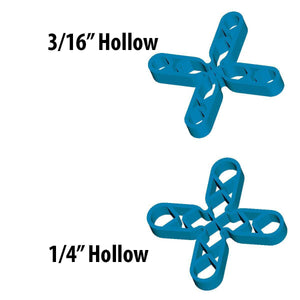 Barwalt 16050 Hollow Leave-In Tile Spacers - 3-8 Inch + 300 Pieces