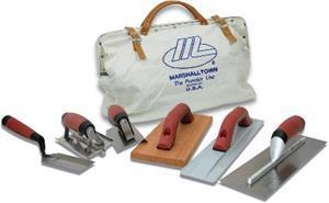Marshalltown 15902 Concrete Tool Kit with Canvas Tool Bag