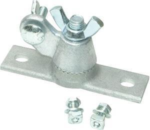 Marshalltown 16825 Concrete Two-Hole All-Angle Bracket and Hardware for T-Slot Darby