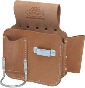 Marshalltown 18967 Misc. 2 Pocket, 3 Tool Left Hand Leather Tool Pouch