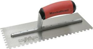 Marshalltown 15720 Tiling & Flooring Notched Trowel-1-4 X 3-8 X 1-4  U-Dura-Soft Handle-Left Handed