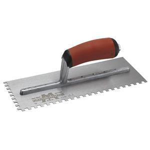 Marshalltown 15761 Tiling & Flooring Notched Trowel-1-4 X 3-8 X 1-4 SQ-Dura-Soft Handle-Left Handed