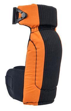 AltaCONTOUR Capless Black-Orange AltaLOk and Neoprene Strap Knee Pads