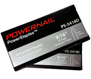 "Powernail PS-5418D 9-16"" Chisel Point Carpet Staples (5,000-box)"
