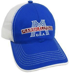 Marshalltown 27948 Cap, Marine Blue With White Mesh