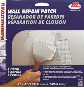 "Marshalltown 28393 6"" X 6"" 12 Drywall Patches w- Clip Strip"