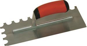 Marshalltown 15689 Tiling & Flooring Notched Trowel-1-4 X 1-4 X 1-4 U-Soft Grip Handle
