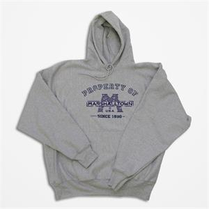 Marshalltown 17313 Gray Hooded Sweatshirt-Small