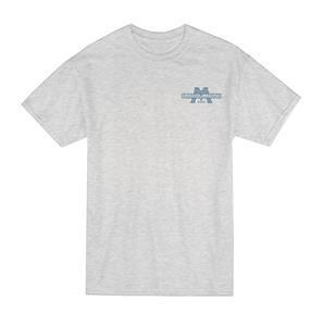 Marshalltown 17909 Ash T-Shirt with Navy Logo-S