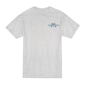 Marshalltown 17910 Ash T-Shirt with Navy Logo-M
