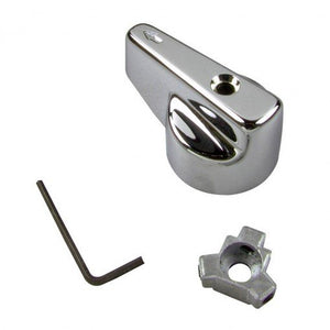 Universal Large Canopy Lever Diverter Handle in Chrome