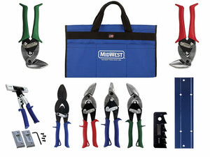 Midwest Snips MWT-HVACKIT03 Tool Pouch HVAC Kit 3 with 9 Tools