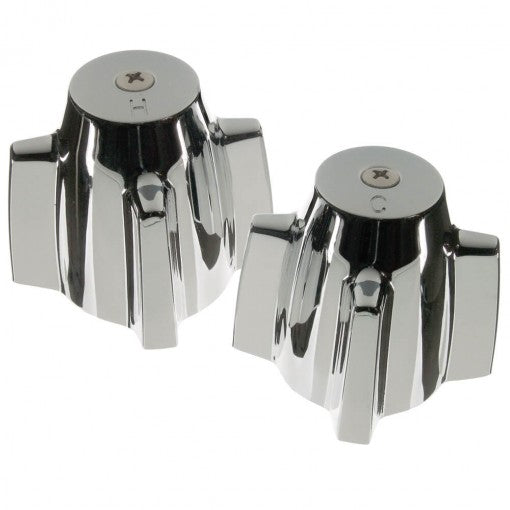Pair of Faucet Handles for Central Brass in Chrome