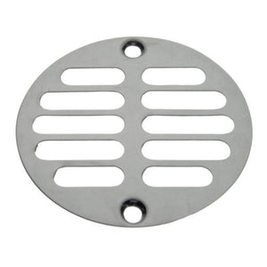3-3/8 in. Screw-In Shower Drain Strainer in Chrome