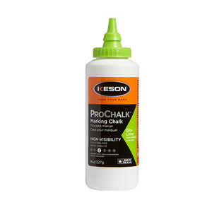 Keson 8GL 8 Oz. Glo-Lime Prochalk