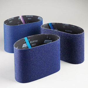 "Norton Blue Fire Floor Sanding Belts -9-7-8"" x 29-1-2"" - 36 Grit - 10 Belts"