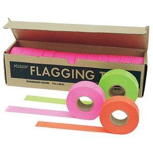 "Keson FT01GP Glo Pink Flagging Tape (1"" X 150')"
