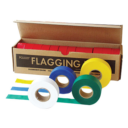 "Keson FT01Y Yellow Flagging Tape( 1"" X 300')"
