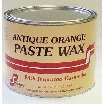 H.F. Staples 222 Antique Orange Floor Paste Wax(4lb)