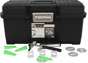 "Lev Tec LT18KIT Tile Leveling Starter Kit (1 Pliers, 500 1-8"" Clips, 250 Wedges, 100 Clear Protection Plates included in tool box)"