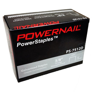 "Powernail PS7512D 3-8"" Carpet Pad Staples (5,000-box)"