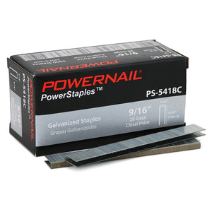 "Powernail PS5418C 20-Gauge 3/16"" Crown PowerStaples Fine Wire Staple - 5,000 Box"