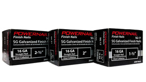 "Powernail SG-25 2-1-2"" 16 GA. Straight Finish Nails (2,000-Box)"