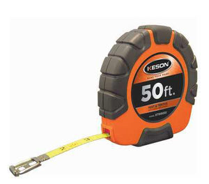 Keson ST10503X 50 Ft. Ft, 10, 100 Nylon Coated Steel Tape With Hook 3X1 Rewind