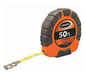 Keson ST18M503X 50 Ft. Ft, In, 1-8 And Metric Nylon Coated Steel Tape With Hook 3X1 Rewind