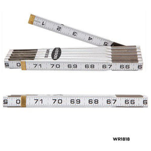 Keson WR18M 6 Ft Folding Wood Rule Ft & Inches-Metric