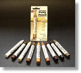 HF Staples Wood Tone Putty Pencils - Early American - 6 Pack