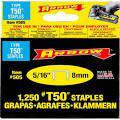 Arrow 1-2 Inch Staples 1250 Pack