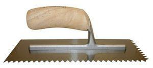 Barwalt Wood Handle Notched Trowel #61 4-1-2 Inch x 11 Inch