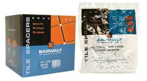 Barwalt 11160 Precision Tile Spacers - 1-2 Inch T Reg Box - 200 Pieces