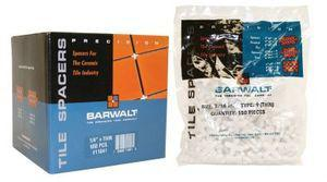 Barwalt 11030 Precision Tile Spacers - 3-16 Inch + Reg Box - 850 Pieces